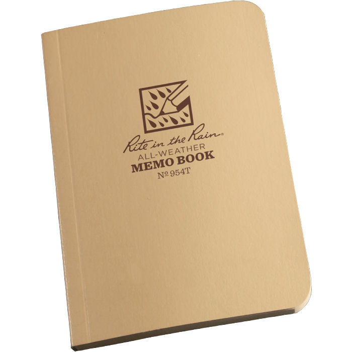 "Tactical Memo Book 3"" x 5"" Tan"