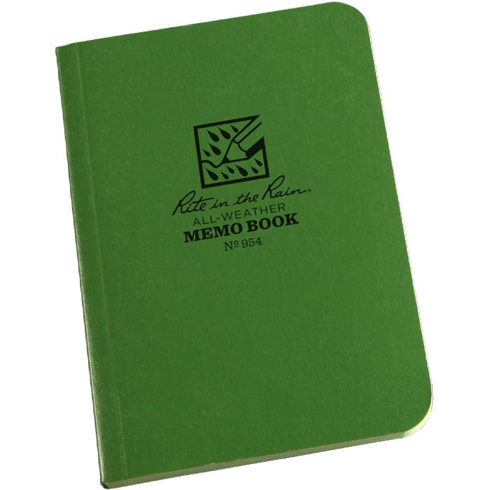 "Tactical Memo Book 3"" x 5"" Green"