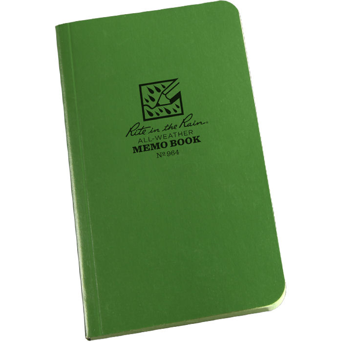 Tactical Memo Books Green 3.5 x 6 # 964
