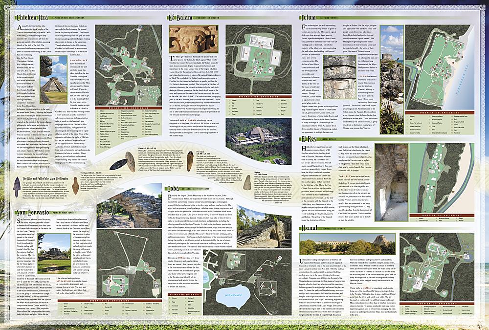 Adventure Map Yucatan Peninsula: Riviera Maya [Mexico] [3105 ...