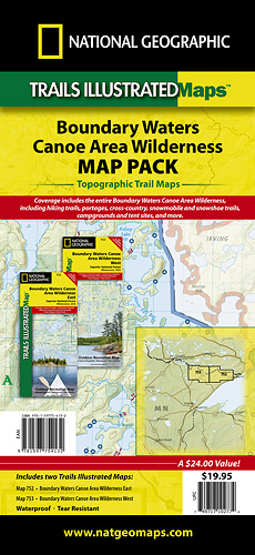 Trails Illustrated Boundary Waters Map Pack Bundle [TI01020591 ...
