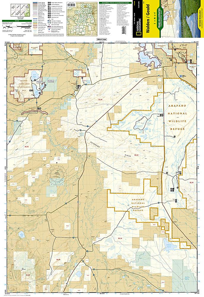 Colorado Series Walden Gould Trail Map Ti114 10 95 Trail
