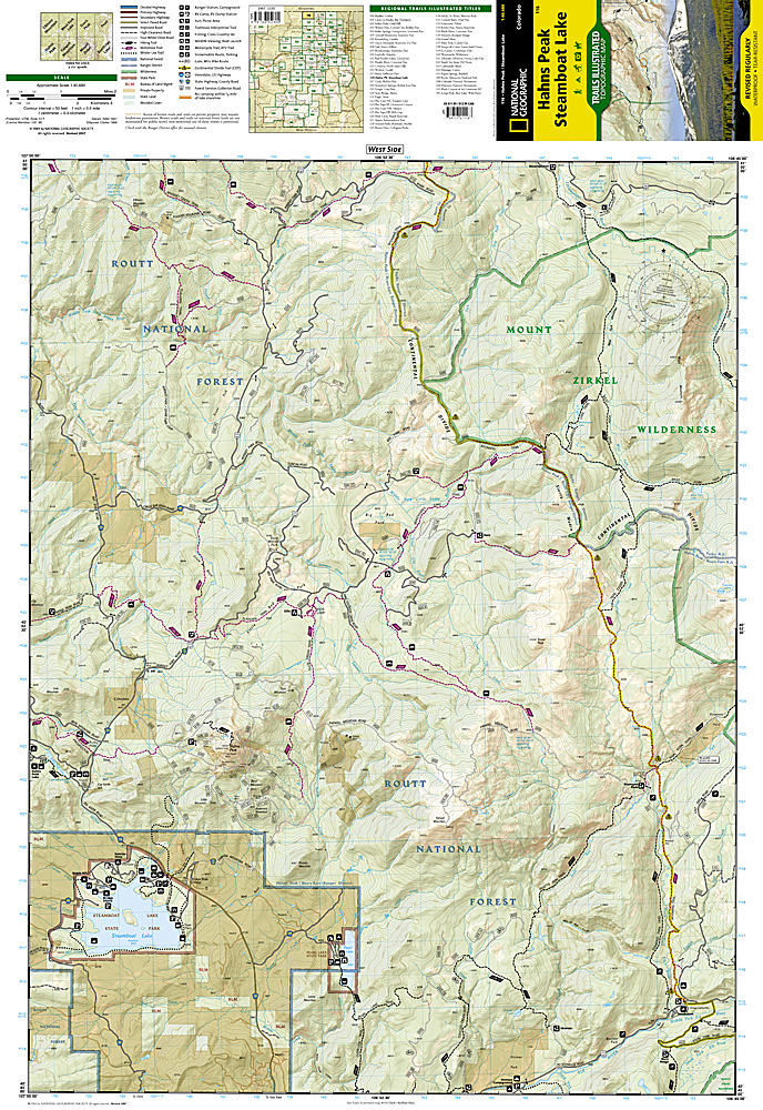 Trail Illustrated Hahns Peak/Steamboat Lake Trail Map [ti116 ...