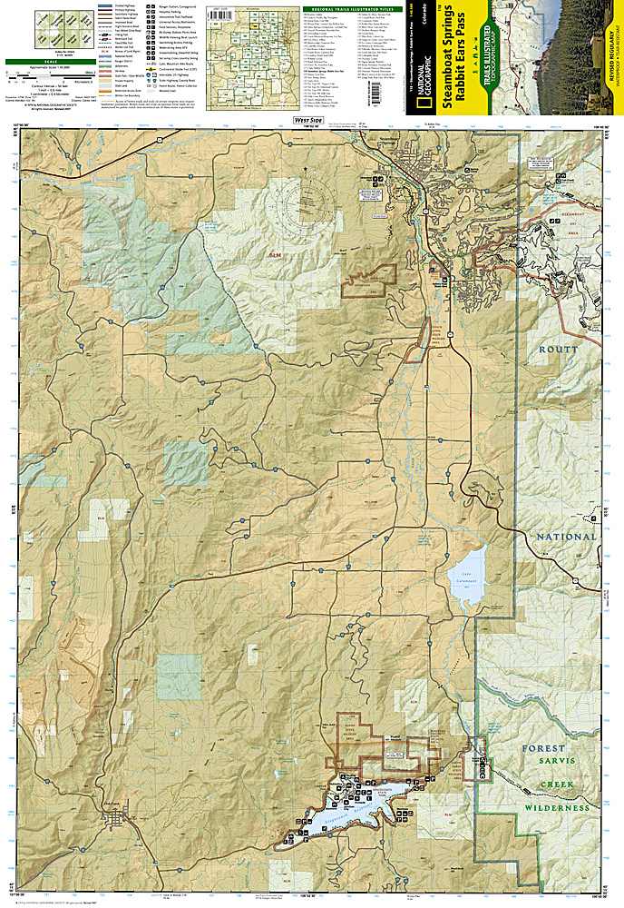 Trails Illustrated Steamboat Springs/Rabbit Ears P Trail Map ... on