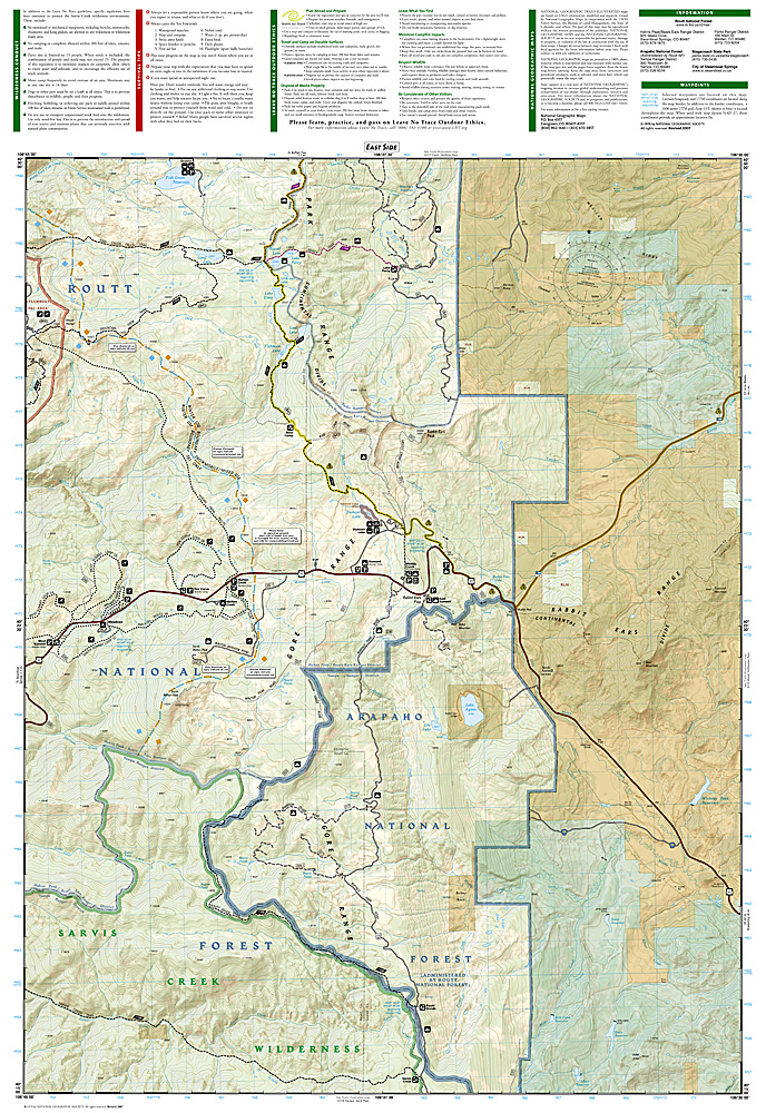 Trails Illustrated Steamboat Springs/Rabbit Ears Pass Trail ...