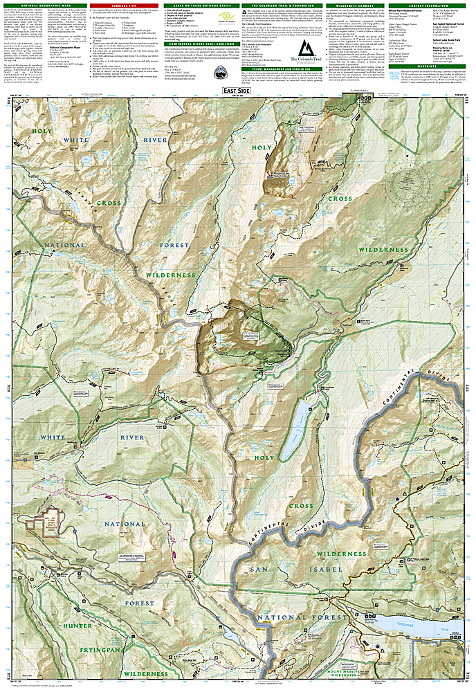 Trails Illustrated Holy Cross/Ruedi Reservoir Trail Map [ti126 ...