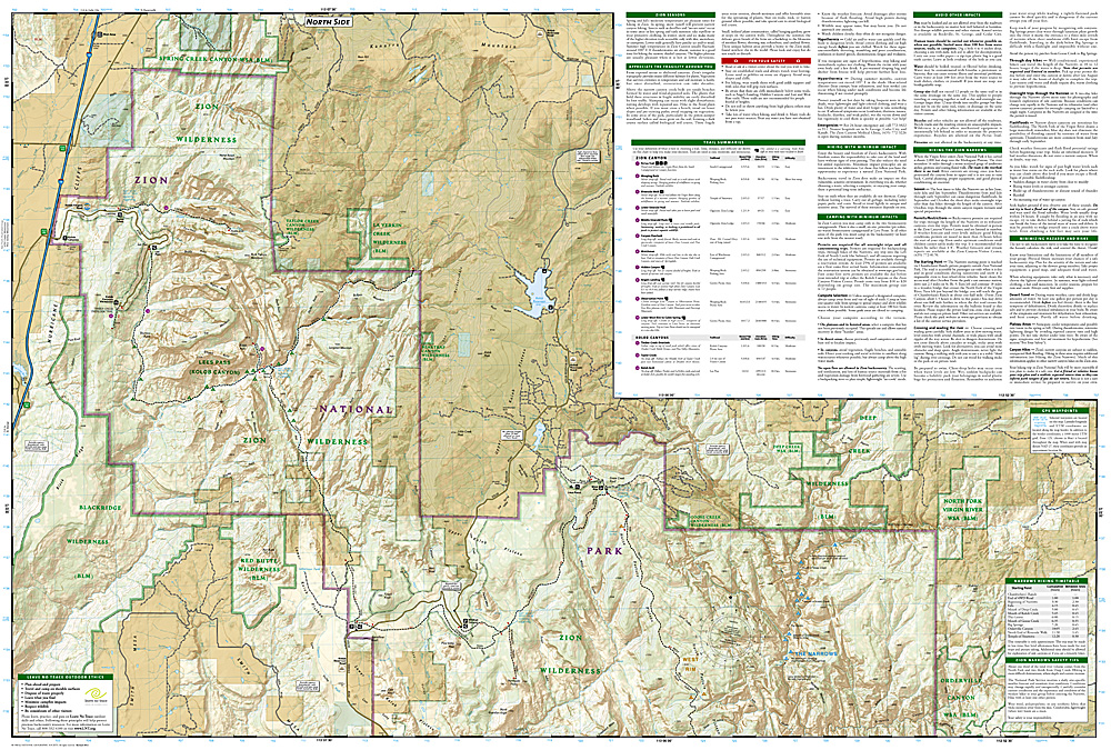 Zion National Park Map [ti214] - $9.86 : Trail Explorers Outpost ...