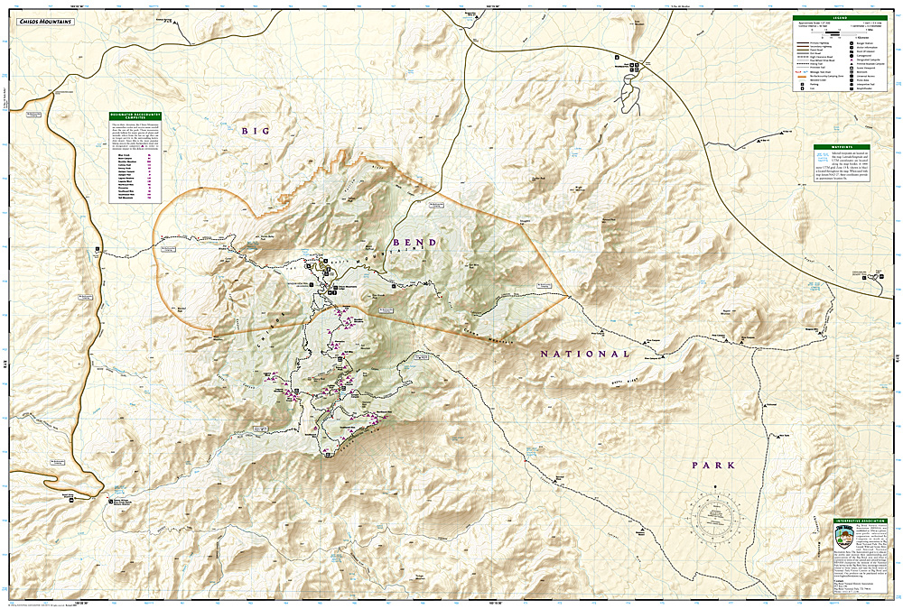 Big Bend National Park Map ti225 986 Trail Explorers Outpost