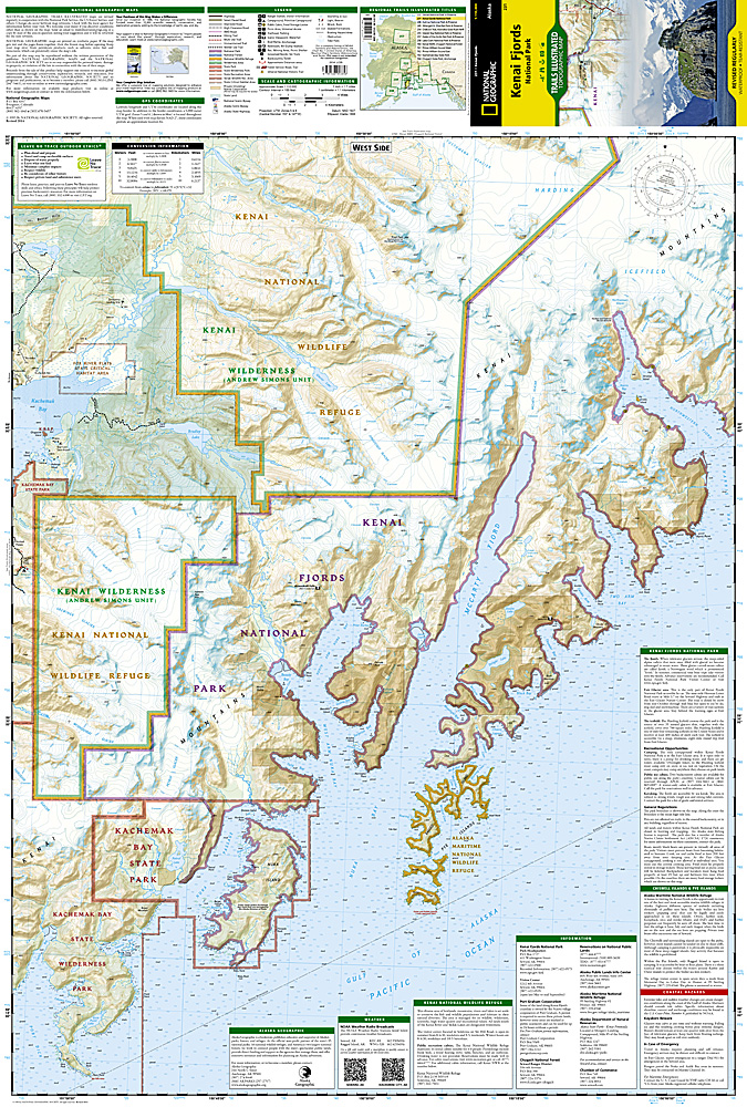 Kenai Fjords National Park Map ti231 986 Trail Explorers