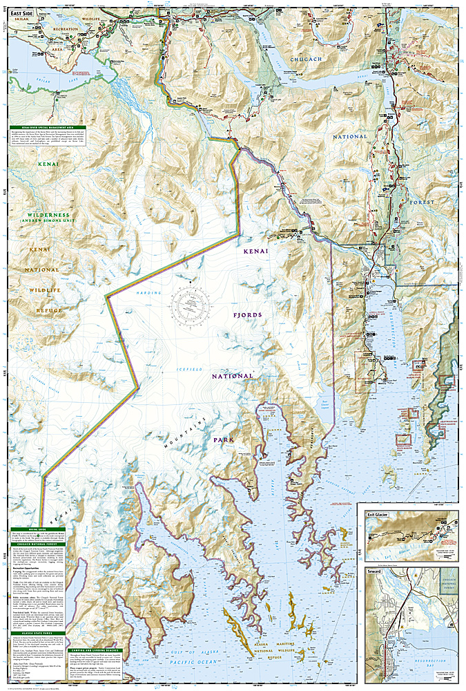 Kenai Fjords National Park Map ti231 986 Trail Explorers