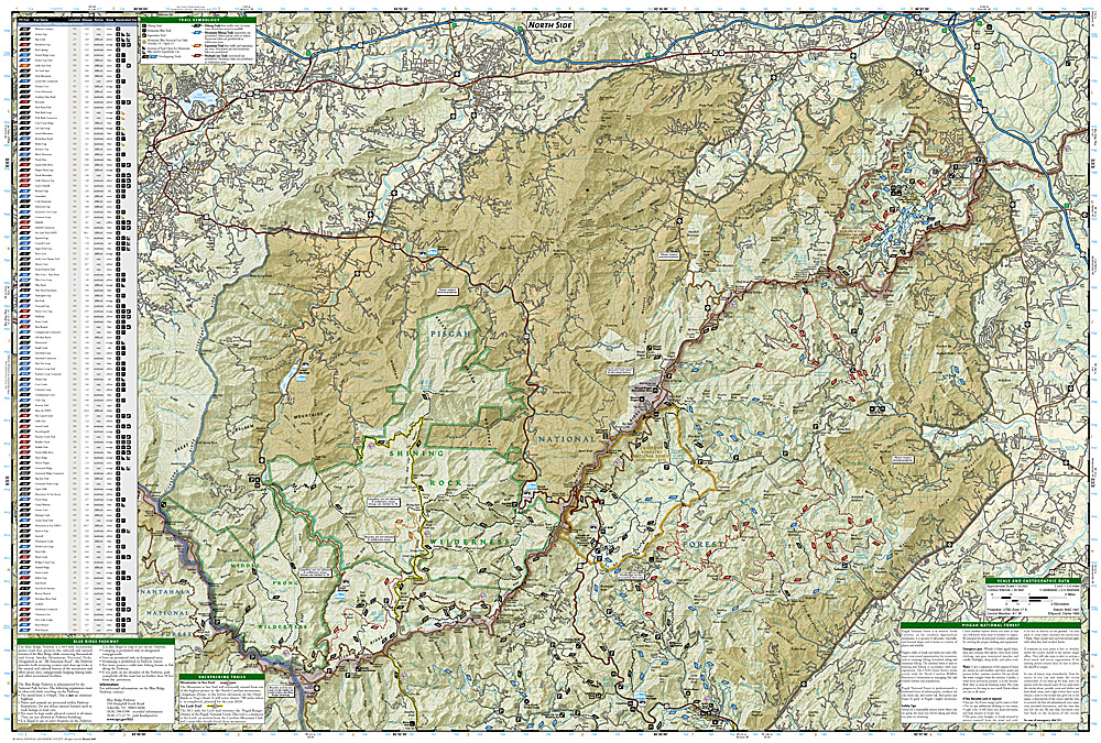 Trails Illustrated Pisgah National Forest Trail Map [ti780 ...