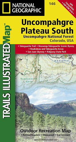 Trails Illustrated Uncompahgre South trail map