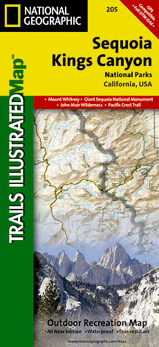 Sequoia & Kings Canyon National Park Map