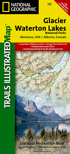 Glacier/Waterton National Park Map