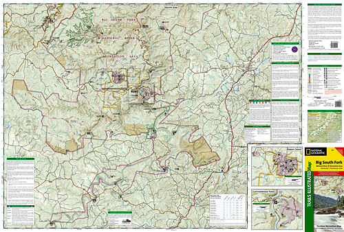 Big South Fork National River Map ti241 941 Trail Explorers
