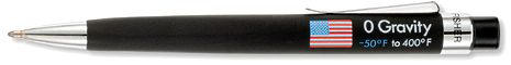Fisher Space Pen Zero Gravity Space pen Black w / flag